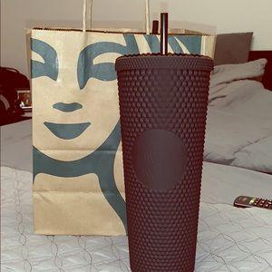 Starbucks matte black cup